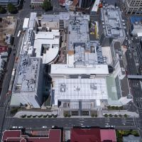 Aerial view of J Block and RHH